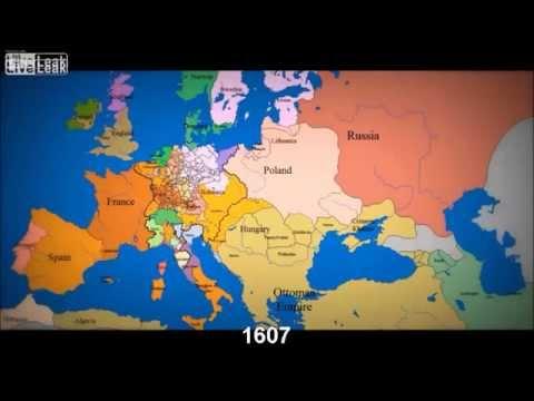 История Европы. Карта Европы за 1000 лет