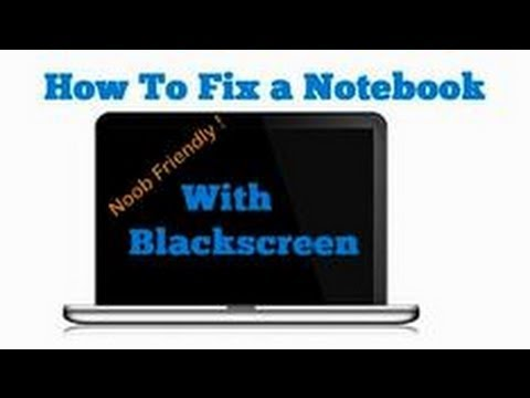 How to Fix Black Screen Laptop - 8600M 8400M -  Graphics Card - Flux Review [HD]
