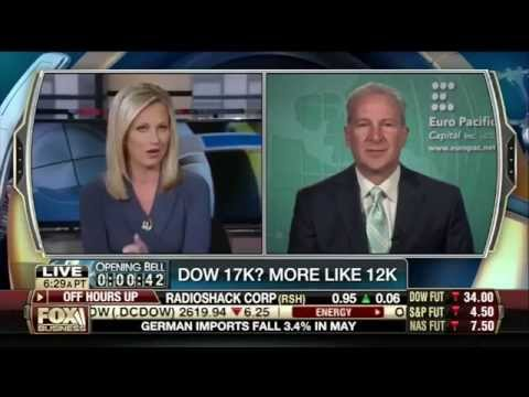 Peter Schiff Claims Dow 17,000 Is Really Dow 12,000 (Or Below) On Fox Business