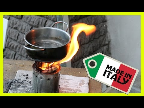 ♻ How To Make A Wood Gas Stove. Made in Italy 100%