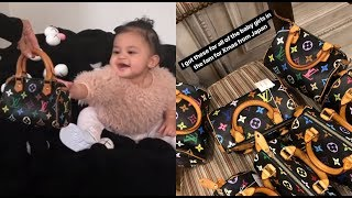 Kim Kardashian Buys Baby Stormi & All The Babies In Her Family Louis Vuitton Bags!
