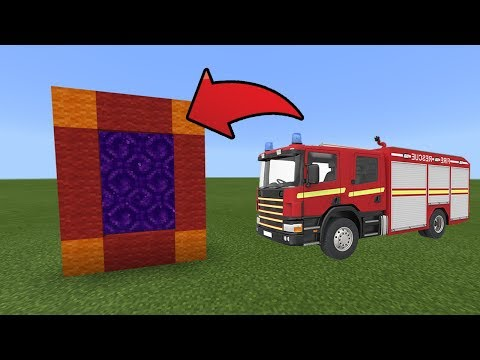 How To Make a Portal to the Fire Truck Dimension in MCPE (Minecraft PE)