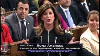 Question Period - Ambrose v Morneau re deficits