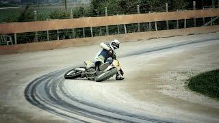 """Flat Track training at """"Da Cassetta"""" circuit ft Daniele Moschini"""