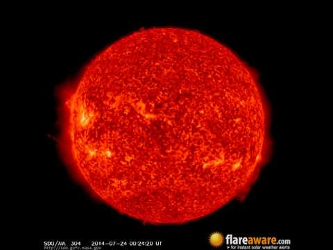 23 Jul - 24 Jul: 24 Hour Solar Activity (Earth Facing; Solar Storm, Sunspot, Solar Flare, CME)