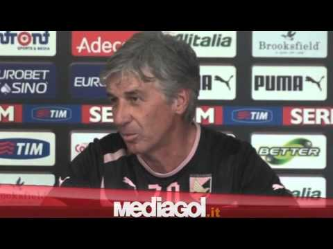(1/2)Gian Piero Gasperini in conferenza verso Bologna-Palermo - 13/11/2012 - Mediagol.it