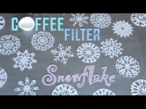 Coffee Filter Snowflakes (Christmas DIY)