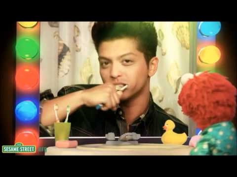 Bruno Mars Ft Elmo - Brushy Brush Your Teeth - Sesame Street