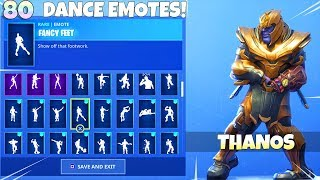 NEW! DANCE EMOTES with THANOS SKIN!! Fortnite Battle Royale