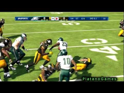 Troy Polamalu Gets Trucked By McCoy! Philadelphia Eagles vs Pittsburgh Steelers - Madden '13 - HD
