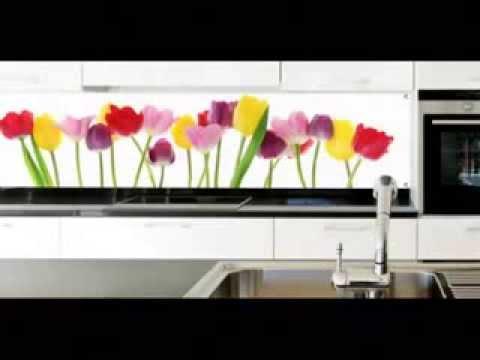 Практичный декор для кухни - кухонный фартук из стекла