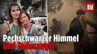 So erlebten Deutsche die Waldbrand-Katastrophe in Griechenland – Bild vor Ort