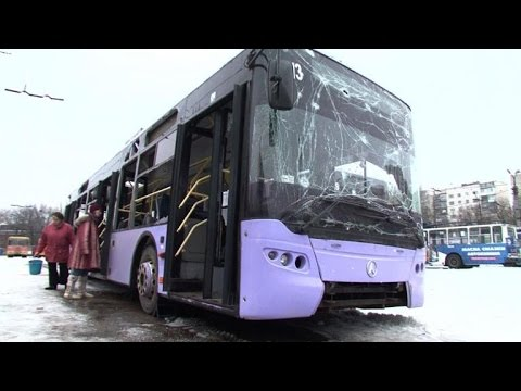 Bloody bus attack in Donetsk as troops abandon airport