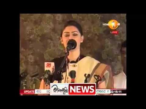 hirunika speak about minister rajitha and maithreepala