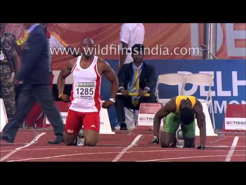 Men's 100m Race : Commonwealth Games
