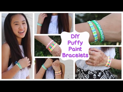 DIY Puffy Paint Bracelets   How To // Tutorial