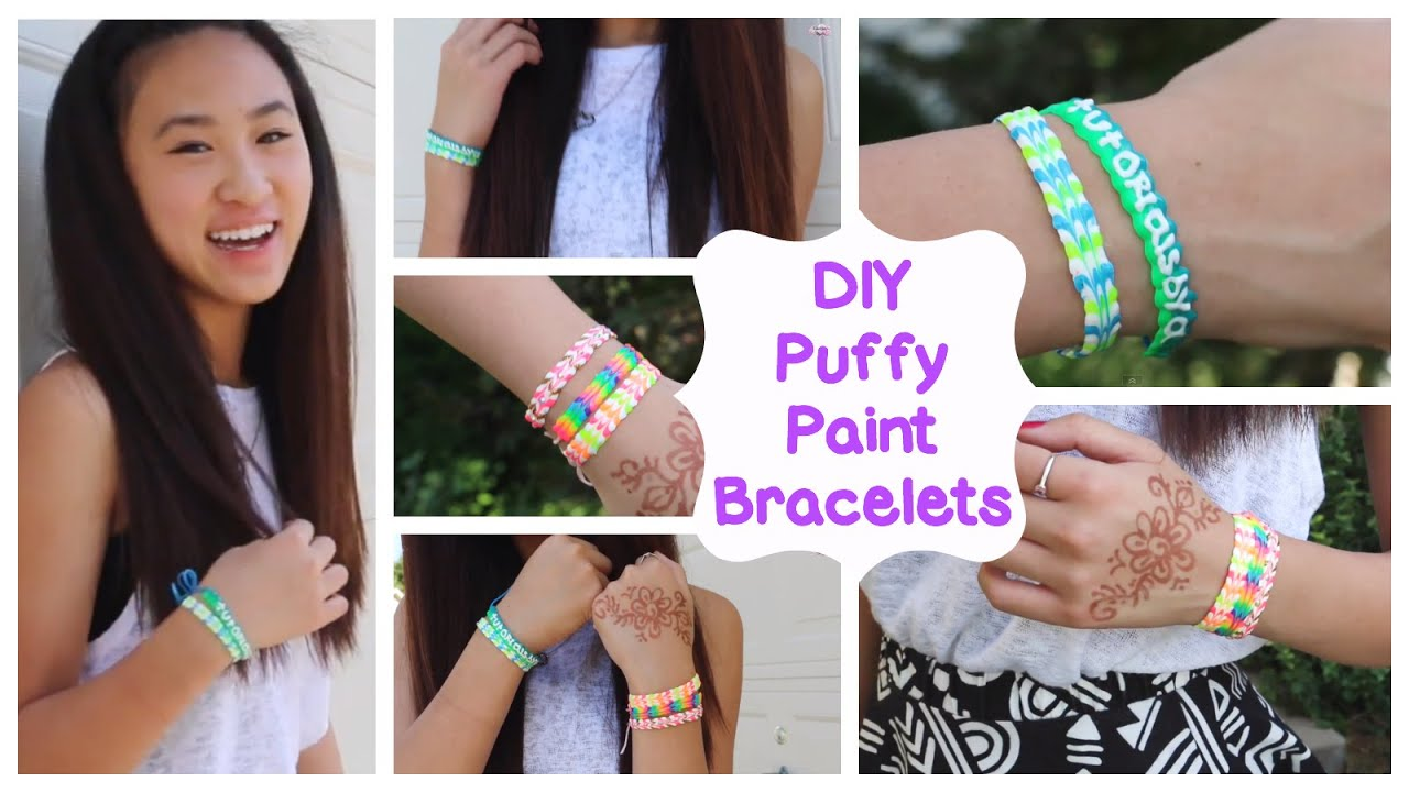 diy puffy paint bracelets how to tutorial youtube. Black Bedroom Furniture Sets. Home Design Ideas