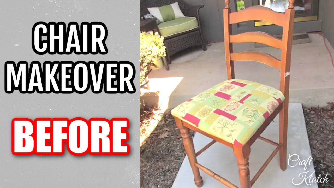 DIY Garbage to Gorgeous Episode 2 Chair Makeover Recycling ...