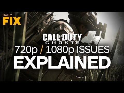 Call of Duty: Ghosts 1080p/720p Issue Explained and Metal Gear:Ground Zeroes Gets Dated?