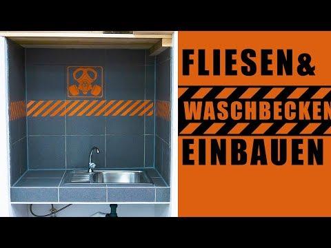 ☢️ Waschtisch bauen, Fliesen verlegen und Waschbecken einsetzen - das kannst DU auch!