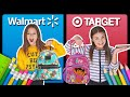 BACK TO SCHOOL SHOPPING HAUL **Target vs Walmart CHALLENGE** ✏️📚| Sophie Fergi Piper Rockelle thumbnail