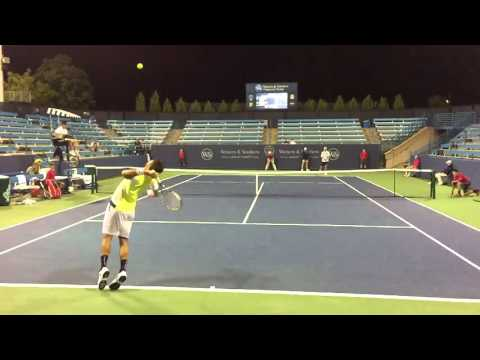 Feliciano Lopez vs. Andreas Seppi Serve and Volley - Slow Motion 120fps