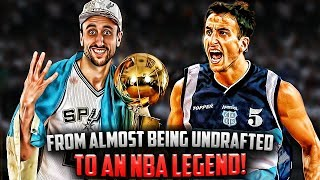 Manu Ginobili: From Almost UNDRAFTED To NBA LEGEND! - 'The James Harden Before Harden'.