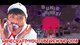 KALIAN TAHU MINECRAFT?? HARUS LIHAT INI!! - Minecraft Rewind Animation 2018 Indonesia Reaction
