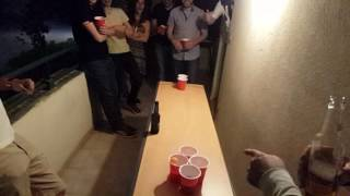Amazing Beer Pong Shot