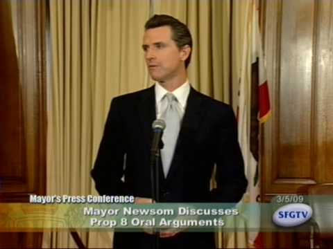 Mayor Newsom Discusses Prop 8 Oral Arguments