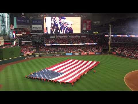 Cody Johnson sings National Anthem - Houston Astros Game 3