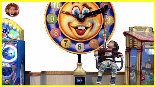 Ryan riding Clock Ride at Chuck E Cheese | Ryan's day out