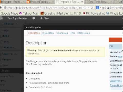 Blogger Nixs Adult Content.- Move Your Blogger Content To Self-hosted Wordpress Blog Now! video