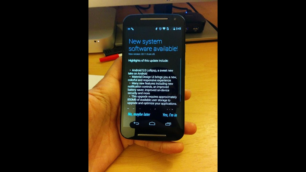 Moto G 2nd Gen Android 5.0 (lollipop update) - YouTube