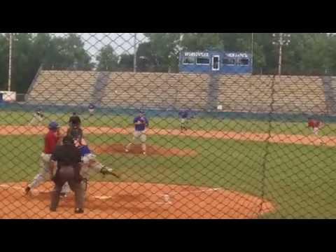 Hunter Ashburn catcher Throw down Legion baseball vs Post 265