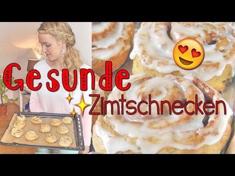 Get Healthy With Me | GESUNDE Zimtschnecken + Glasur - low carb und sowas von lecker