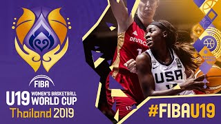 USA v Germany  - Full Game - FIBA U19 Women's Basketball World Cup 2019