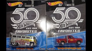 Hot Wheels Hunting - 50th Anniversary Favorites Mix 1 & 2 + review