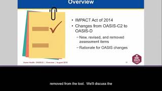 Introduction to the OASIS-D Webinar