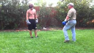 Boxing Dad vs Son