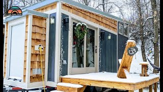 Two Adventurers Live In This DIY Tiny House - Living Simple To Be Mobile & Work Remotely