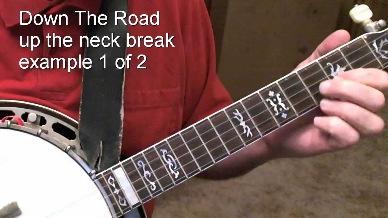 Down The Road up the neck break Example 1/2 - Tom Adams banjo lesson - Jan 2012 - YouTube