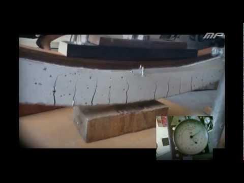 Badanie wytrzyma�o�ci modelu belki żelbetowej oraz jej wykonanie w ramach projektu z Mechaniki Budowli.