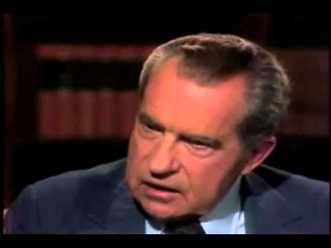 David Frost Confronts Richard Nixon On Watergate Scandal video