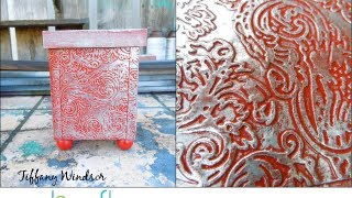 How to Make a Look of Embossed Metal Brown Bag Box by Tiffany Windsor