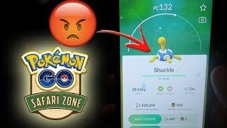 ¡NO CREERÁS lo que me pasa con SCHUCKLE SHINY en el Pokémon GO SAFARI ZONE! [Keibron]