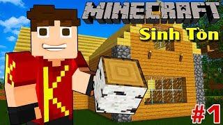 Minecraft Sinh Tồn #1 | QUAY TRỞ LẠI: XÂY CĂN BIỆT THỰ MINI | KiA Phạm (w/ Vamy Trần)