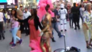 Nude Lady in Time Square, New York