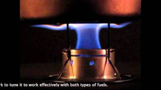 The Duo Stove for denatured or isopropyl (rubbing) alcohol