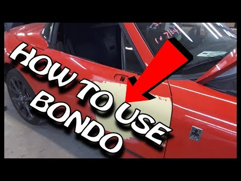 Major Dent Repair Using Bondo - How TO Do It YOURSELF - From Start To Finish - LIVE LESSON FRIDAY 4